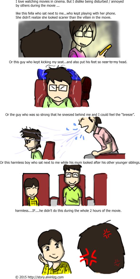 #55: Enjoying movie in cinema